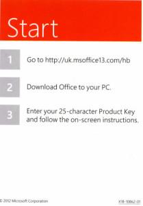Gefälschte Office 2013 Keycard