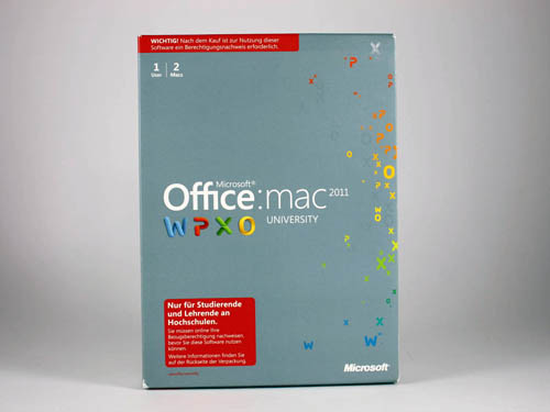 Bild: Microsoft Office for Mac 2011 University | © 2ndsoft GmbH