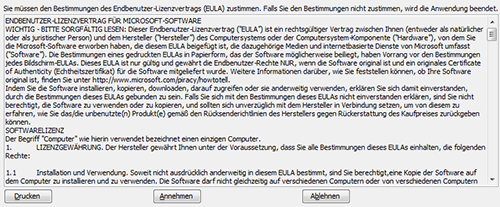 Bild: Microsoft-EULA (Screenshot)