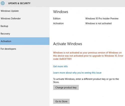 Umstiegsmöglichkeit für Raubkopierer direkt in der Systemsteuerung | Bild: Screenshot Windows-Blog