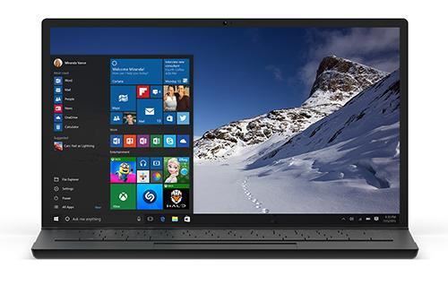 Bild: Notebook mit Windows 10. | Quelle: Newsroom Microsoft Deutschland