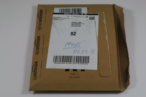Bild: Amazon-Verpackung der am 6. April getätigten Bestellung