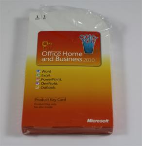 Bild: Auf den ersten Blick wirkt die Verpackung von Microsoft Office Home & Business 2010 unscheinbar. Der abgebildete Artikel wurde durch uns geöffnet. Die Folie lag nicht so eng an wie beim Original, mutmaßlich nachgeschweißt.