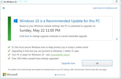 """Bild: """"Get Windows X""""-Fenster"""