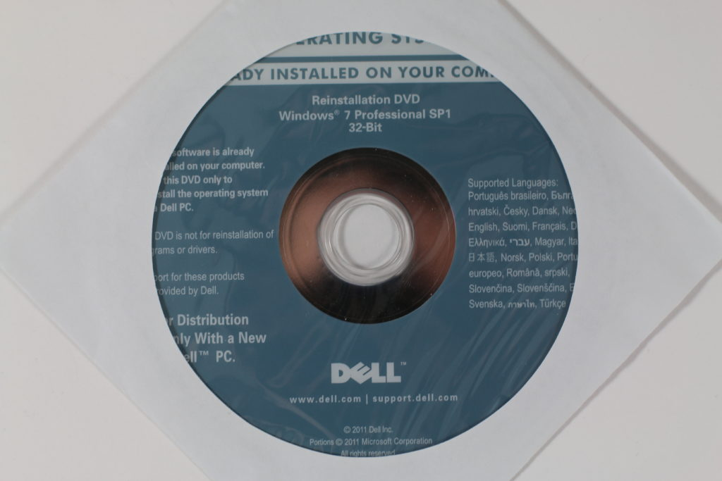 Bild: Dell Reinstallations-DVD