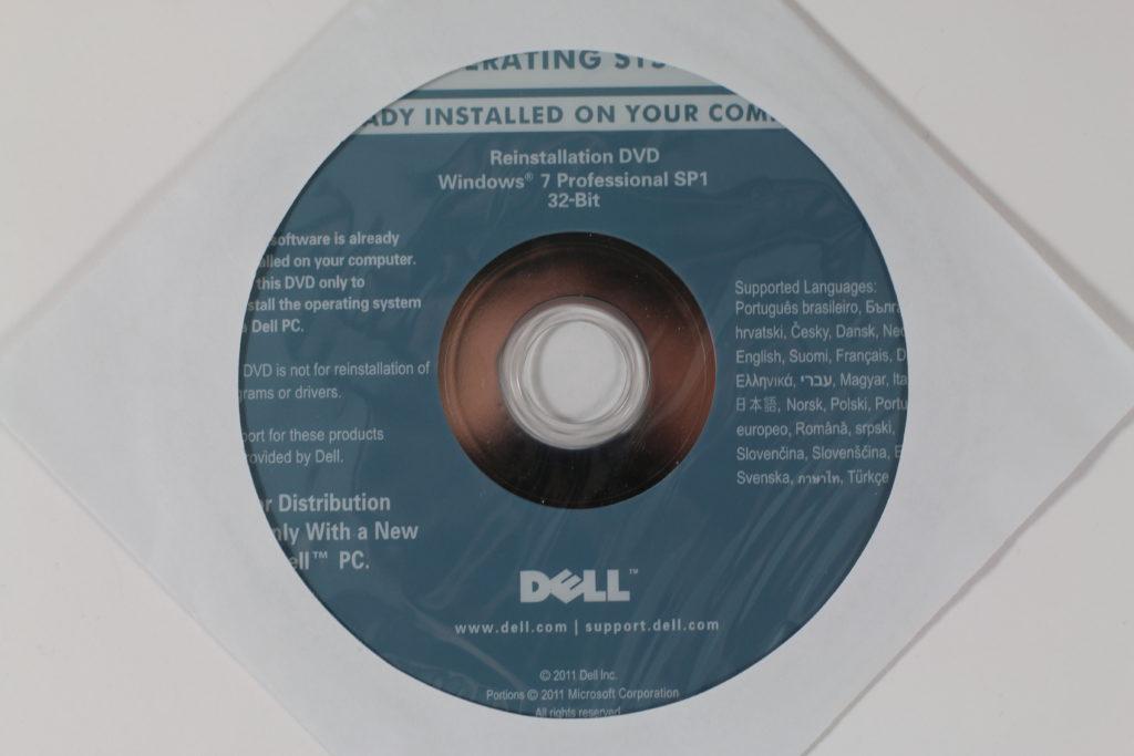 Bild: Die gelieferte Dell Reinstallations-DVD