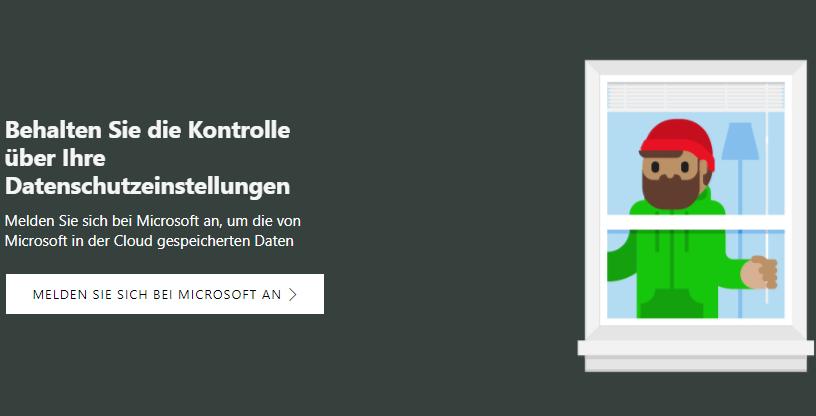 Foto: Microsoft verspricht mit dem Privacy-Dashboard mehr Einsicht für User | Foto: Screenshot microsoft.com