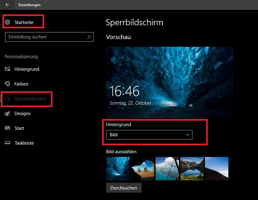 "Screenshot: Hier können Sie das ""Windows Blickpunkt""-Feature ausschalten. | © gebrauchtesoftware.de"