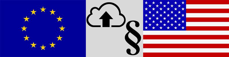 Foto: USA und Europa - Neue Gesetze sollen Zugriff auf Cloud-Daten im Ausland erleichtern | © Montage gebrauchtesoftware.de