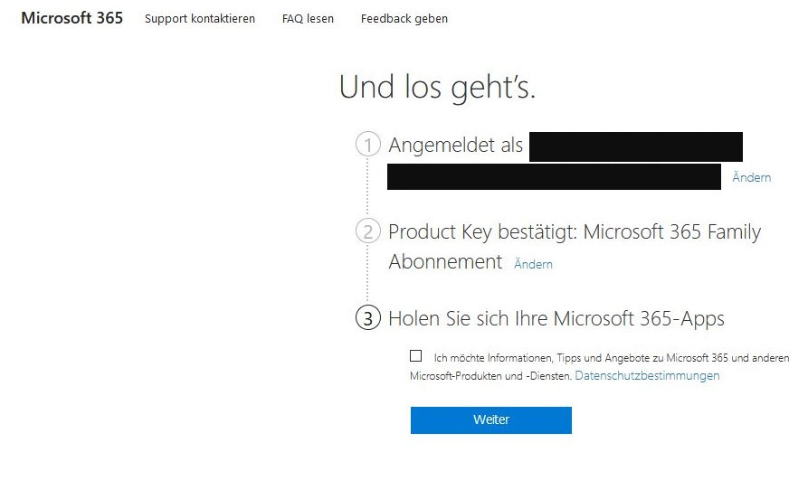 Foto 5: So funktionierten die Anmeldung und Aktivierung des Codes ohne Fehlermeldung | Screenshot: Gebrauchtesoftware.de